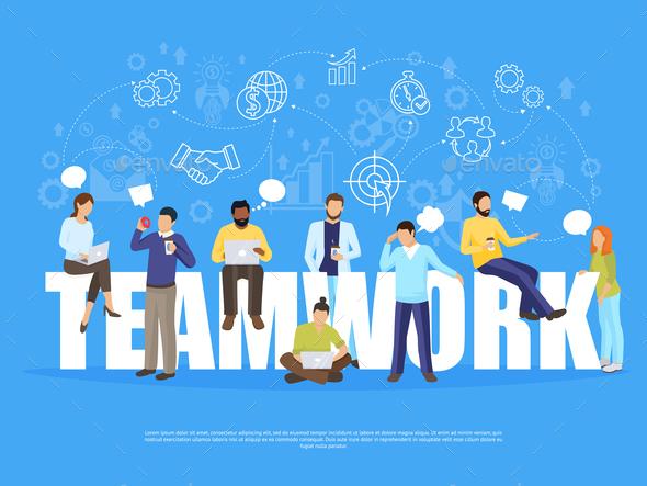 Teamwork Concept Illustration - Concepts Business