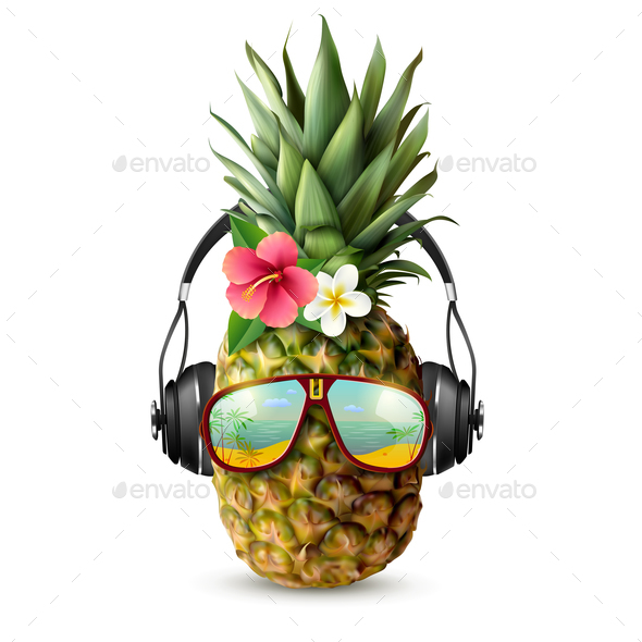 GraphicRiver Realistic Pineapple Concept 20685832