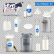 Product Milk on Transparent Background Set