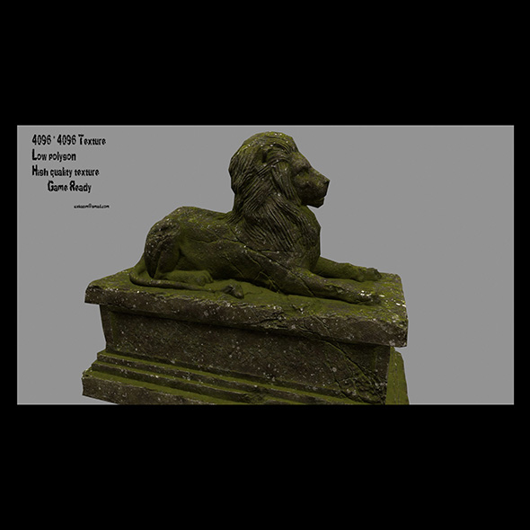 Lion Statue 23 - 3DOcean Item for Sale