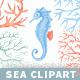 Sea Inhabitants Clipart Collection