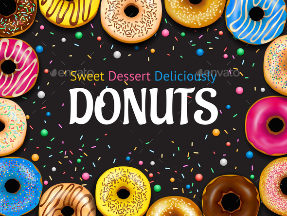 GraphicRiver Realistic Donuts Frame 20685868