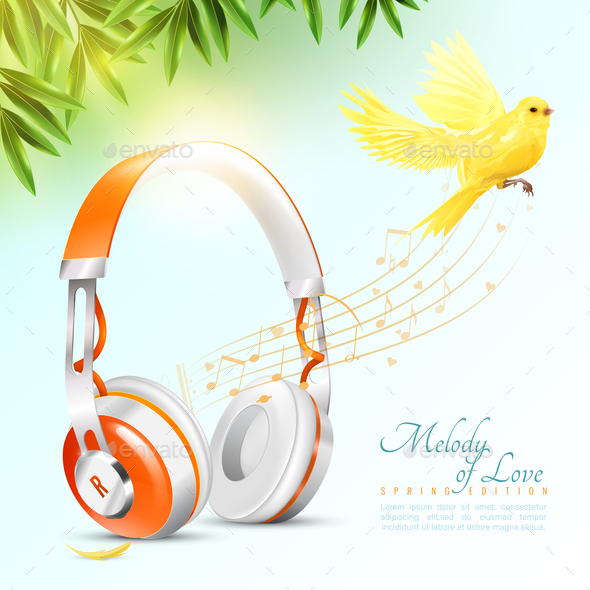 GraphicRiver Realistic Headphones Poster 20685875