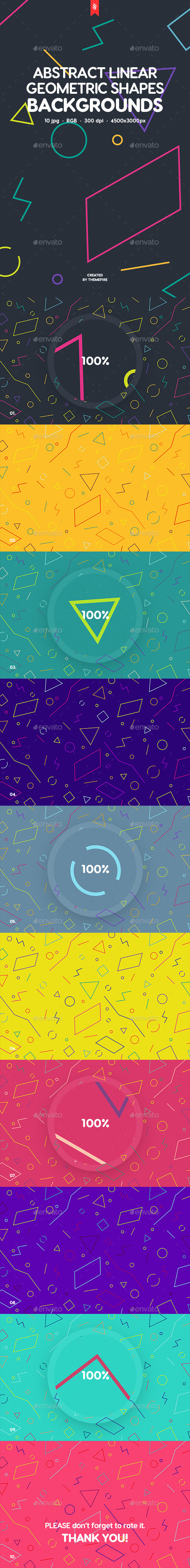 Abstract Linear Geometric Shapes Backgrounds - Patterns Backgrounds