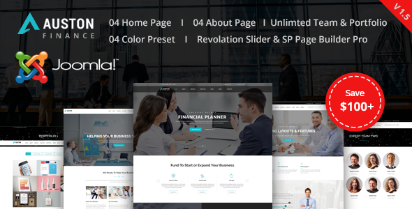 Auston - Finance, Corporate and Business Joomla Template - Corporate Joomla