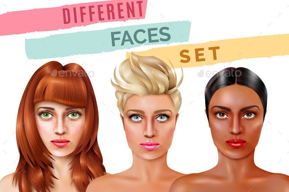 Model Face Set - People Characters