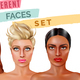 Model Face Set - GraphicRiver Item for Sale