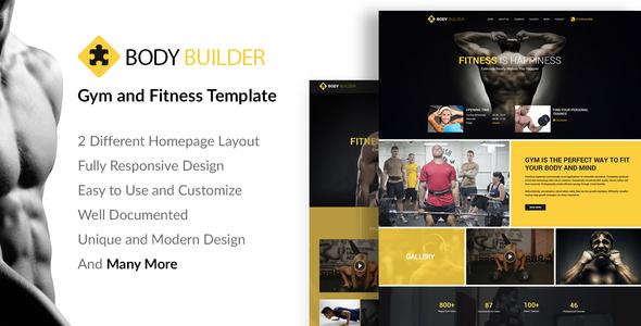 Image of Body Builder: Responsive Gym & Fitness WordPress Theme