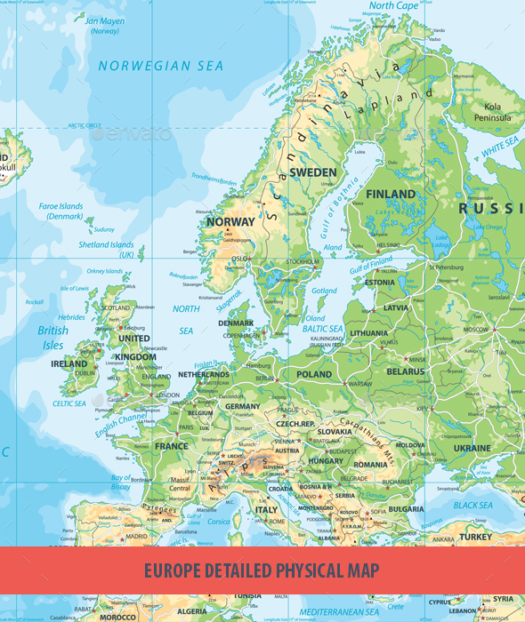 GraphicRiver Europe Physical Map 20685946