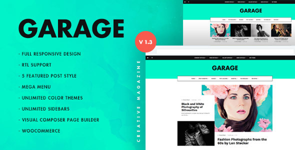 Garage Creative & Magazine WordPress Theme
