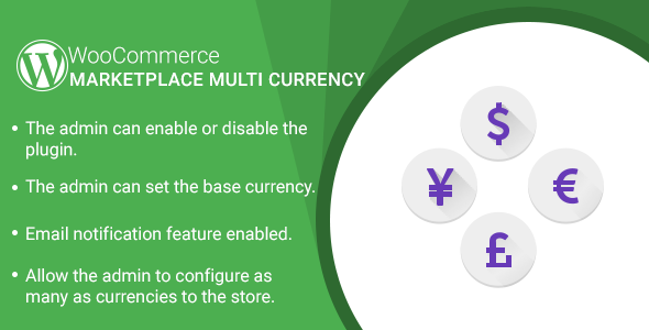 Marketplace Multi Currency Plugin for WooCommerce - CodeCanyon Item for Sale
