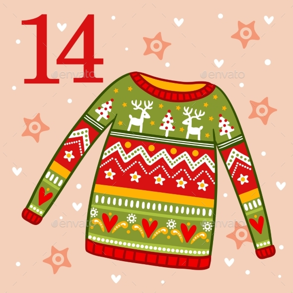 Christmas Sweater with Ornament - Christmas Seasons/Holidays