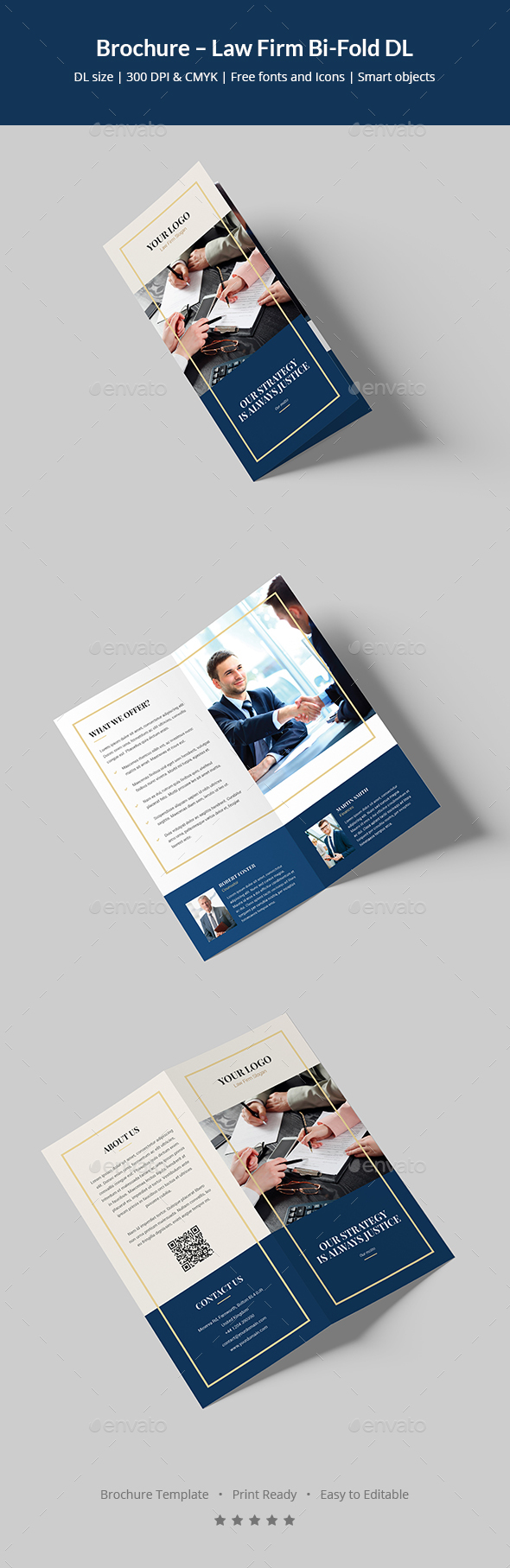 dl brochure template - brochure law firm bi fold dl by artbart graphicriver