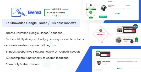 Everest google places reviews best wordpress plugin to showcase everest google places reviews best wordpress plugin to showcase google places business reviews accmission Image collections