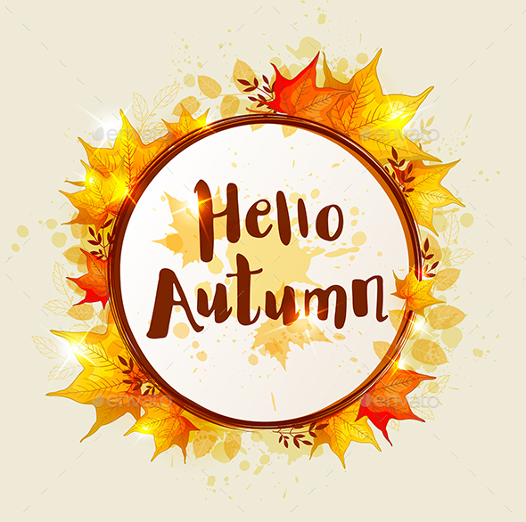 GraphicRiver Round Autumn Banner 20686125
