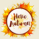 Round Autumn Banner - GraphicRiver Item for Sale