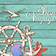 Travel Background with Hand Wheel and Anchor
