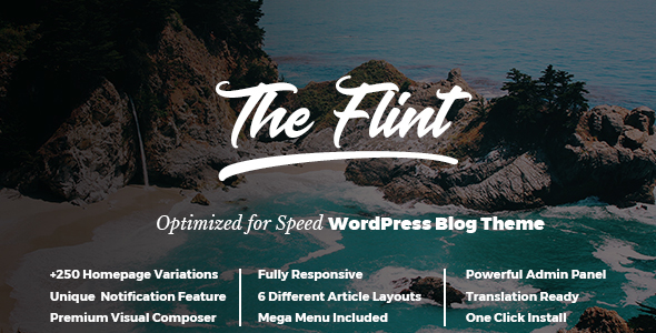 Download Flint - Optimised WordPress Blog Theme