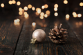 Christmas decoration on wooden background - PhotoDune Item for Sale