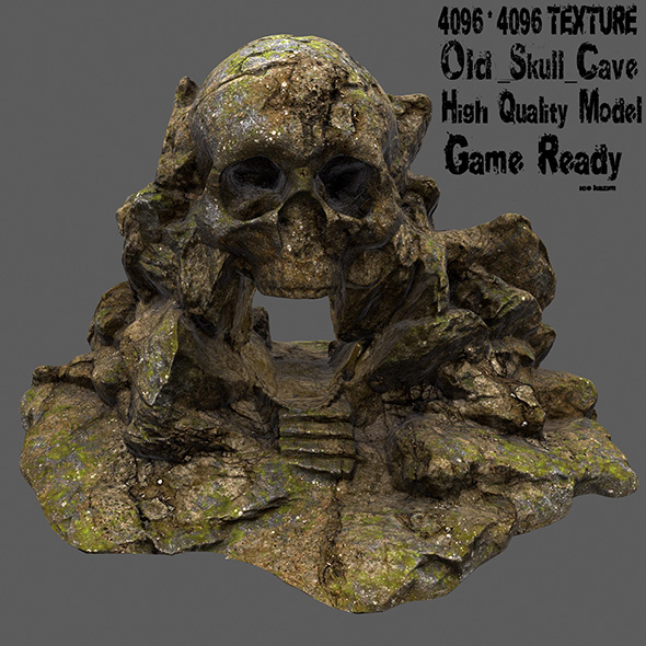 skull cave 11 - 3DOcean Item for Sale