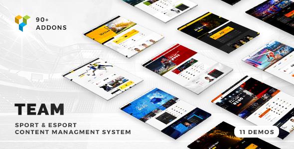 Team - Soccer, Football, Hockey, Basketball   eSport & Gaming   Sport Club News WordPress Theme - Entertainment WordPress