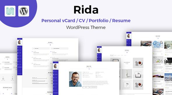 Rida - vCard Responsive Resume / Portfolio WordPress Theme