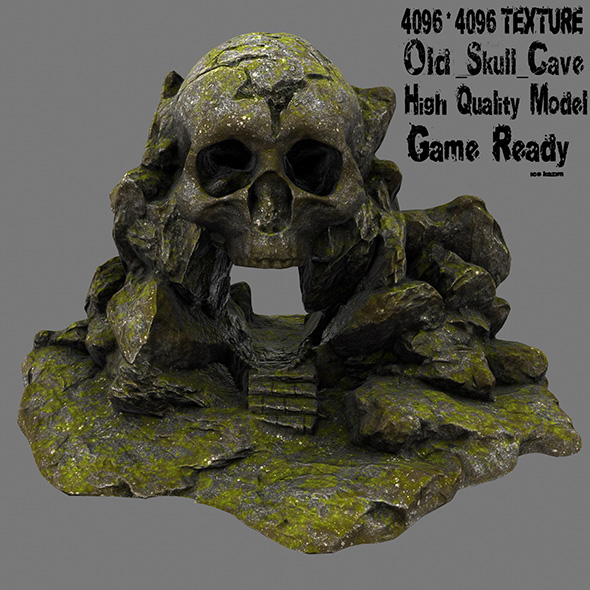 skull cave 12 - 3DOcean Item for Sale