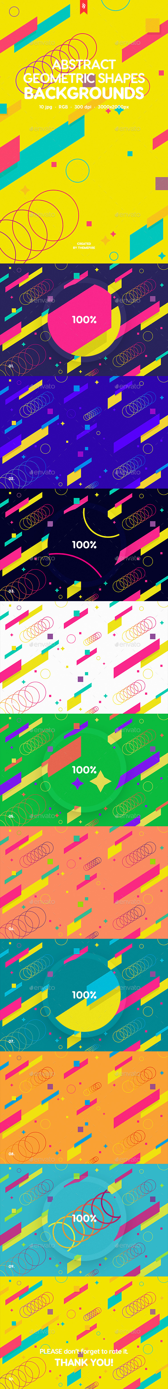 Abstract Geometric Shapes Backgrounds - Patterns Backgrounds