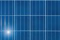 solar panel with sun closeup