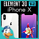 Apple iPhone X for Element 3D - 3DOcean Item for Sale