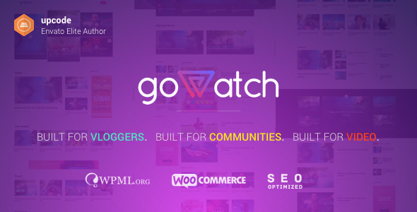 ThemeForest goWatch Video Community & Sharing Theme 20359139