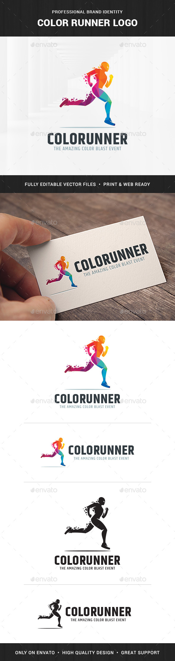 GraphicRiver Color Runner Logo Template 20686762