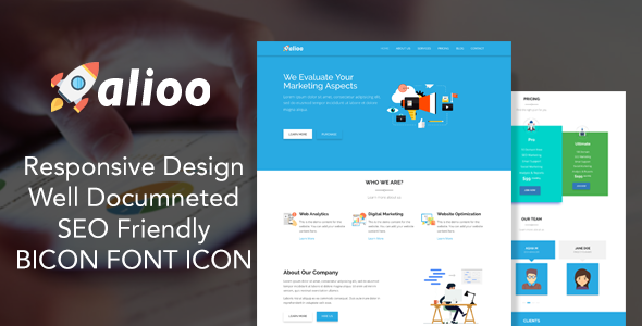 Alioo - SEO Marketing HTML Template