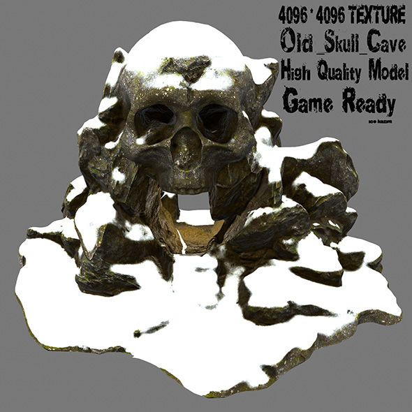 snow skull cave 1 - 3DOcean Item for Sale