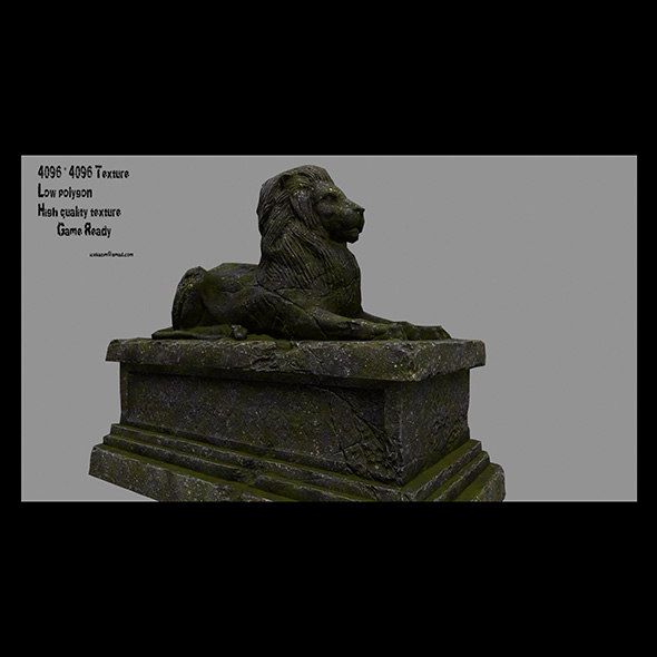 Lion Statue 24 - 3DOcean Item for Sale