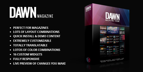 Dawn Magazine Theme - News / Editorial Blog / Magazine