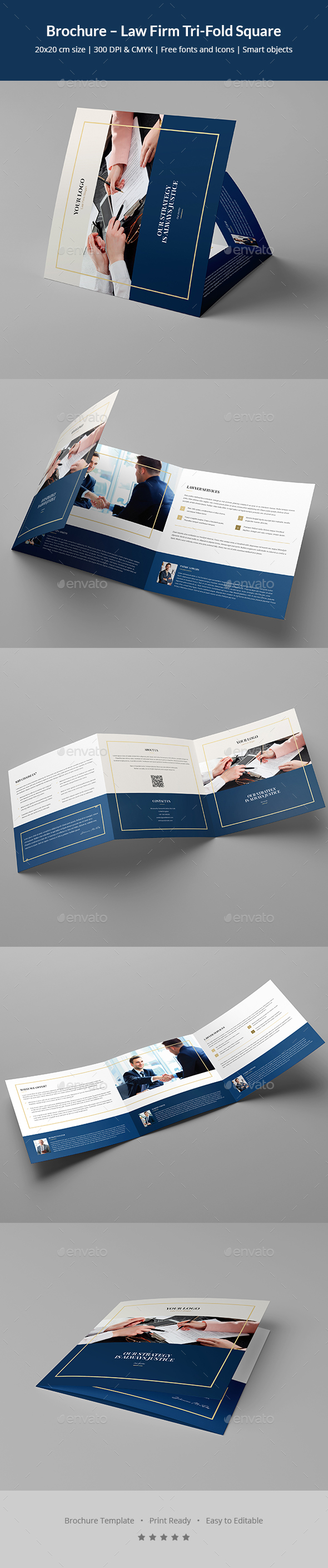 GraphicRiver Brochure Law Firm Tri-Fold Square 20687165