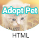 Cuddle Love Pet - A Complete Pet Shop, Job Directory HTML5 Template.