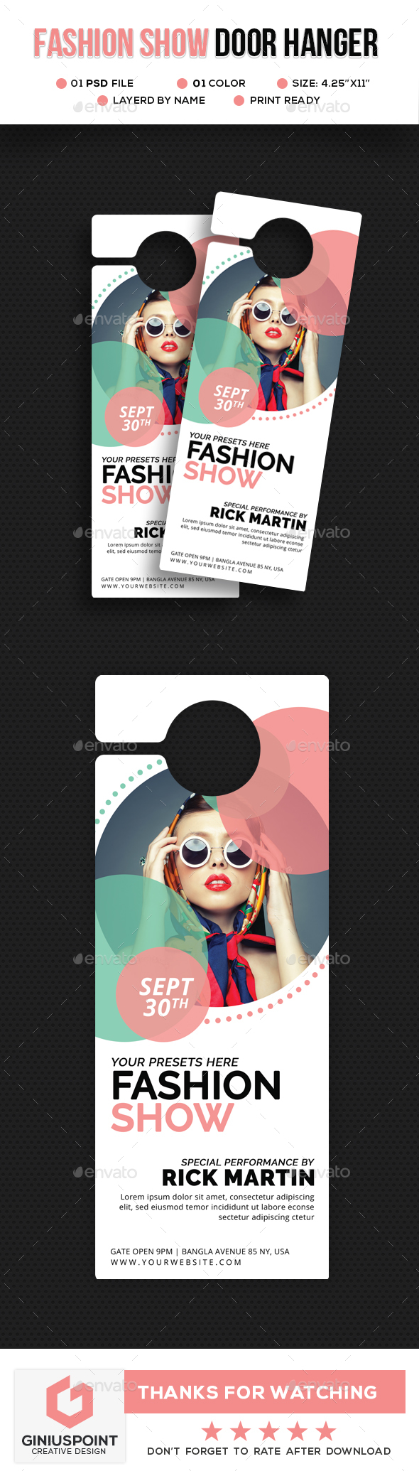 GraphicRiver Fashion Door Hanger 20687203