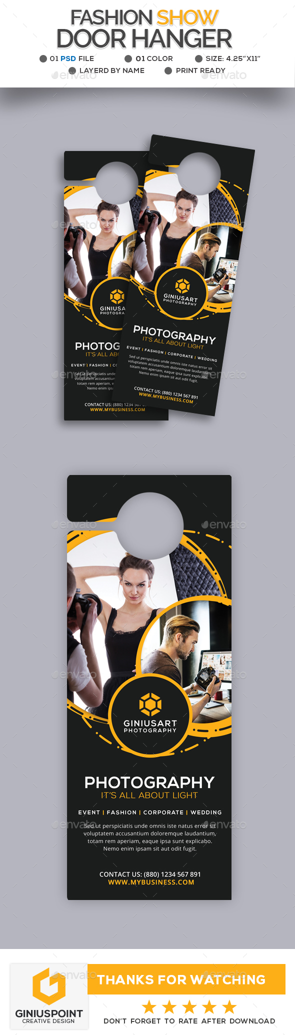 GraphicRiver Fashion Show Door Hanger 20687227