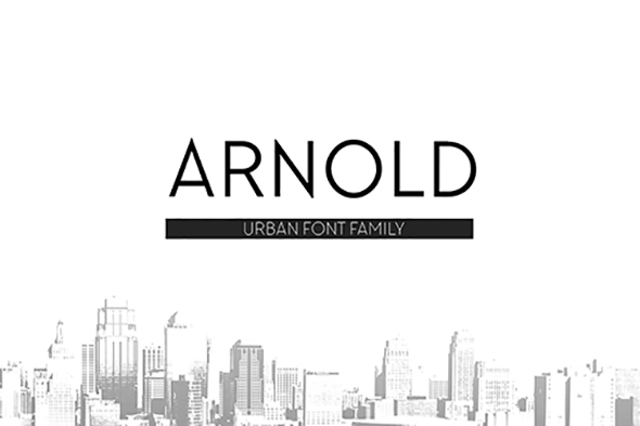 GraphicRiver Arnold Font Family 20687268