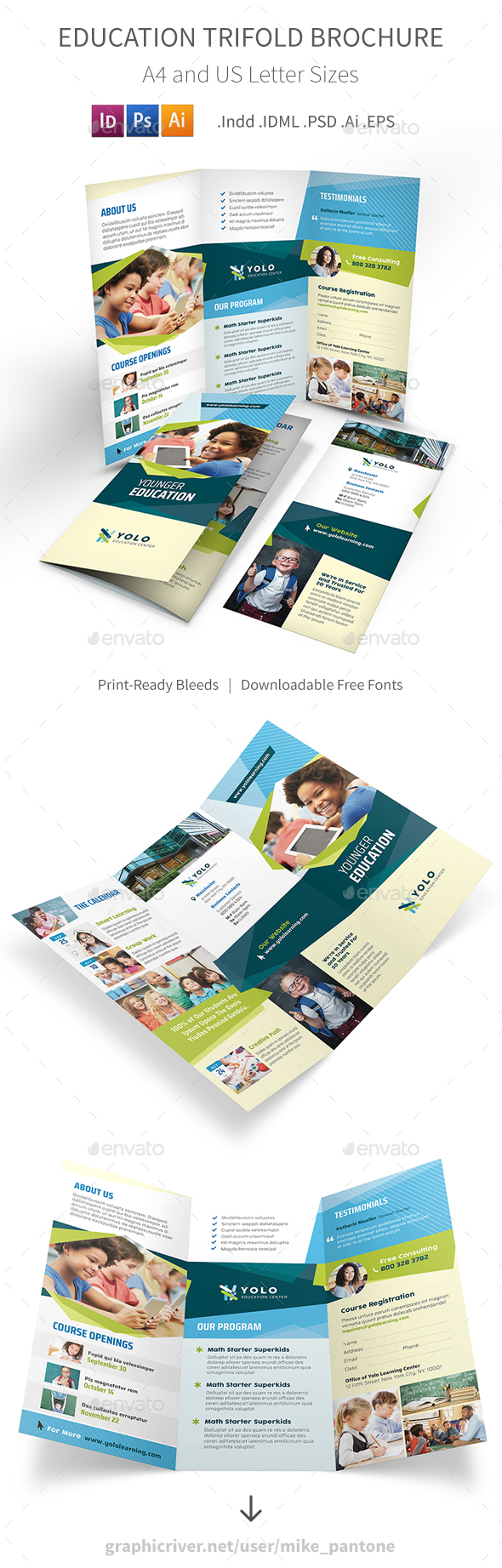 Education Trifold Brochure 10 - Informational Brochures