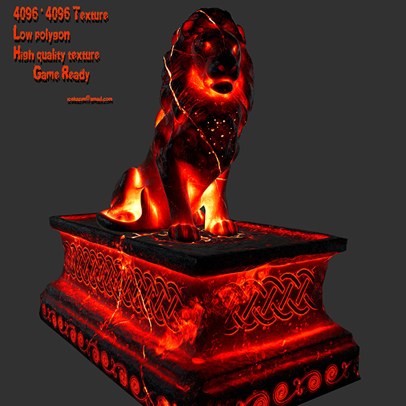 Lion Statue 25 - 3DOcean Item for Sale