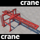 Big Red Crane of Ports - 3DOcean Item for Sale