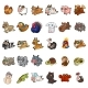 Animals Toy Set Isolated