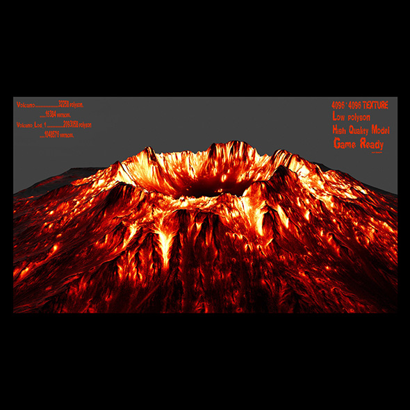 volcano - 3DOcean Item for Sale