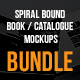 Spiral Bound Book / Catalogue Bundle Mockups