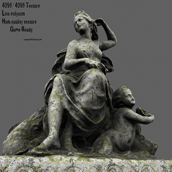 statue 7 - 3DOcean Item for Sale