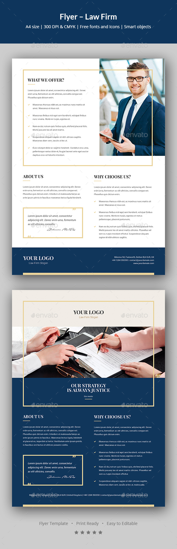 GraphicRiver Flyer Law Firm 20687902