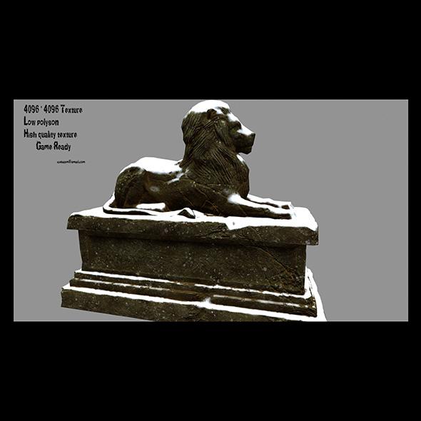 Lion Statue 02 - 3DOcean Item for Sale